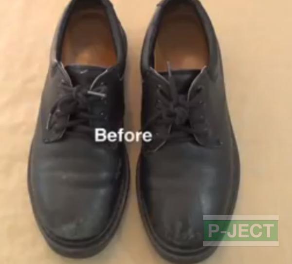 รูป 7 สอนทำความสะอาดรองเท้าหนัง