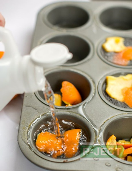 รูป 5 กำจัดกลิ่นเหม็นอับ ด้วยเปลือกส้มและน้ำส้มสายชู