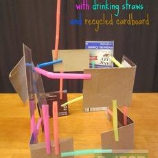 สร้างตึก จากกระดาษกล่อง และหลอด