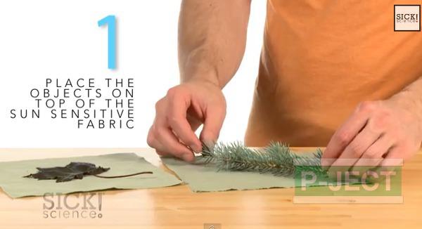 รูป 3 สอนทำลายผ้า จากใบไม้