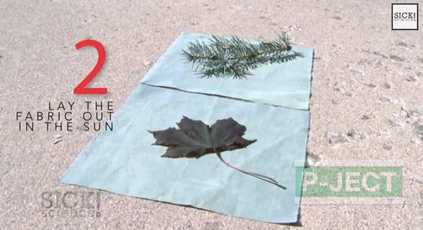 รูป 4 สอนทำลายผ้า จากใบไม้