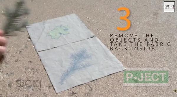รูป 6 สอนทำลายผ้า จากใบไม้