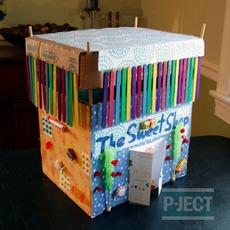 ไอเดียสื่อการสอน ออกแบบร้านขายขนม ในกล่อง
