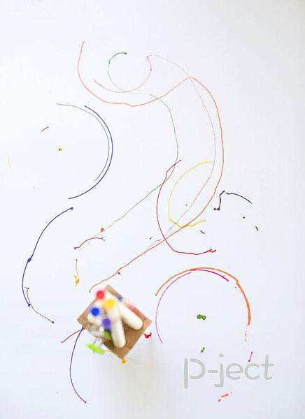 รูป 3 หุ่นยนต์วาดรูป ใส่มอเตอร์เล็กๆ ทำเองแบบง่ายๆ