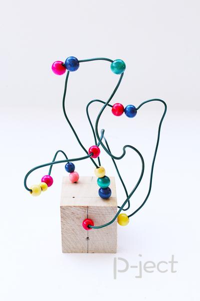 รูป 3 ของเล่นเด็ก เสริมพัฒนาการ ลูกปัดเคลื่อนที่