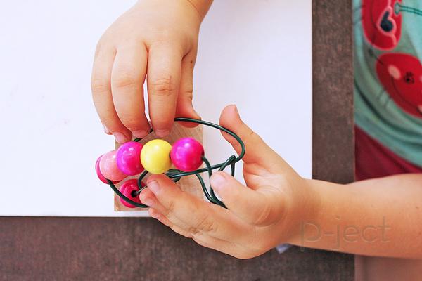 รูป 6 ของเล่นเด็ก เสริมพัฒนาการ ลูกปัดเคลื่อนที่