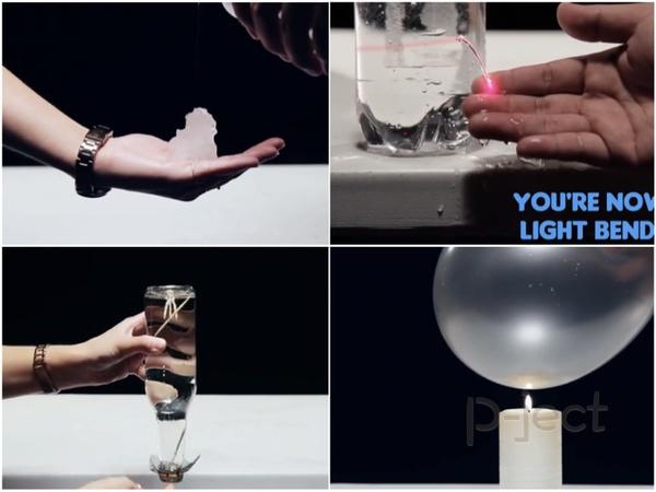 รูป 1 การทดลองสนุกๆ เกี่ยวกับน้ำ