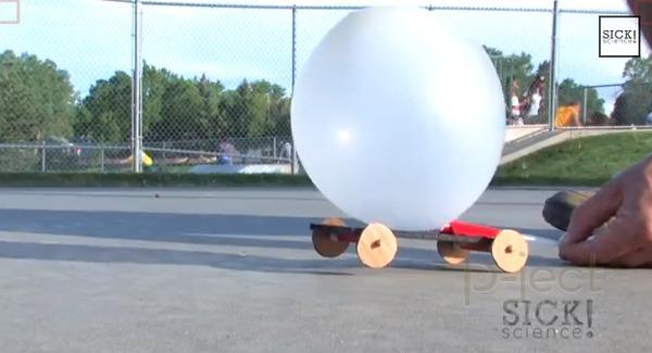 รูป 1 ของเล่นวิทยาศาสตร์สนุกๆ รถพลังลูกโป่ง