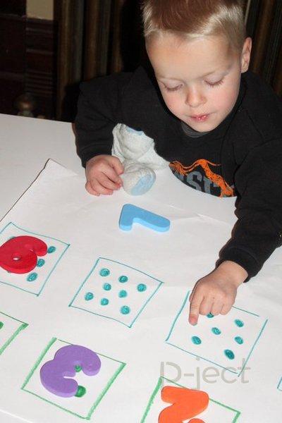 รูป 4 เกมส์ค้นหาตัวเลข ตัวอักษร วางให้ถูกตำแหน่ง