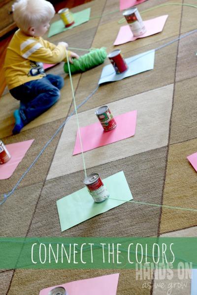 รูป 4 เชื่อมสีกระดาษ กับไหมพรมเส้นยาว