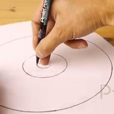 เทคนิคการวาดวงกลมให้กลม โดยไม่ต้องใช้วงเวียน