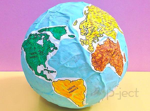 สื่อการสอน ลูกโลกกระดาษ ทำเองแบบง่ายๆ
