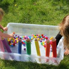 สอนเด็กแยกสี จากปอมๆสีสดใส