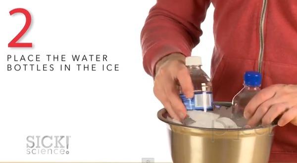รูป 4 สอนทำน้ำแข็งแบบเร่งด่วน จากเกลือ