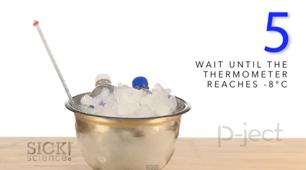 รูป 7 สอนทำน้ำแข็งแบบเร่งด่วน จากเกลือ