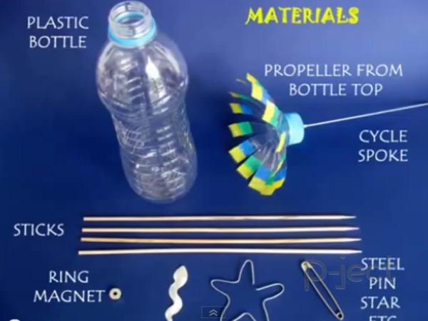 รูป 2 ไอเดียทำของเล่น จากขวดพลาสติก และแม็กเน็ต