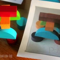 สอนต่อรูปทรง จากรูปตัวอย่าง (สื่อการสอนสนุกๆ)