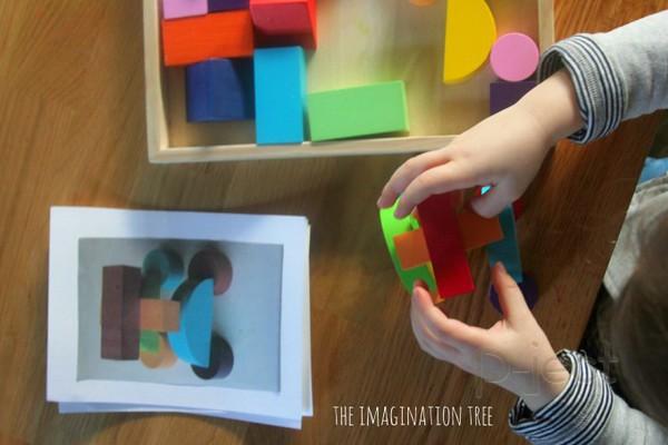 รูป 3 สอนต่อรูปทรง จากรูปตัวอย่าง (สื่อการสอนสนุกๆ)