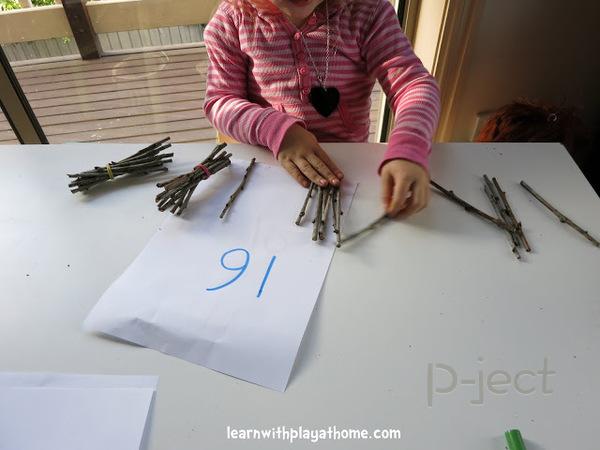 สอนนับเลข จากกิ่งไม้