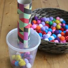 ทำของเล่นให้เด็ก สนุกๆ จากปอมๆ ใส่กระป๋อง