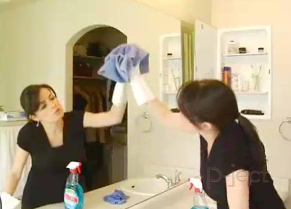 วิธีทำความสะอาด กระจกห้องน้ำ
