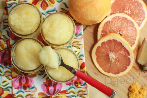 รูป 2 สครับผิวหน้า กลิ่นส้ม ทำเอง