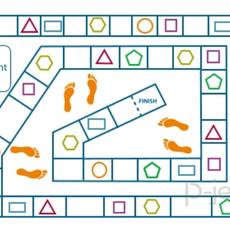 เกมส์คณิตศาสตร์ ทางเดิน รูปร่าง สามเหลี่ยม สี่เหลี่ยม…