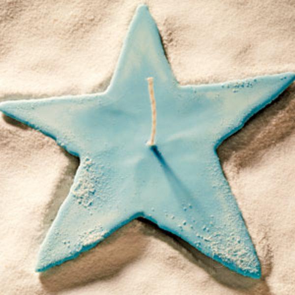 ทำเทียนไขรูปดาว ใช้แม่พิมพ์ ทรายละเอียด