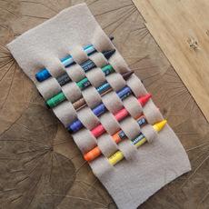 สอนประดิษฐ์ที่เก็บสีเทียน จากผ้า