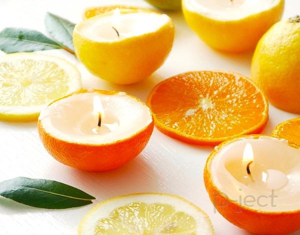 สอนทำเทียนไข จากเปลือกส้ม