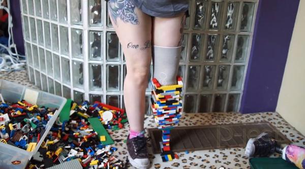 ไอเดียโครงงานวิทย์ ขาปลอม ทำจากตัวต่อเลโก้