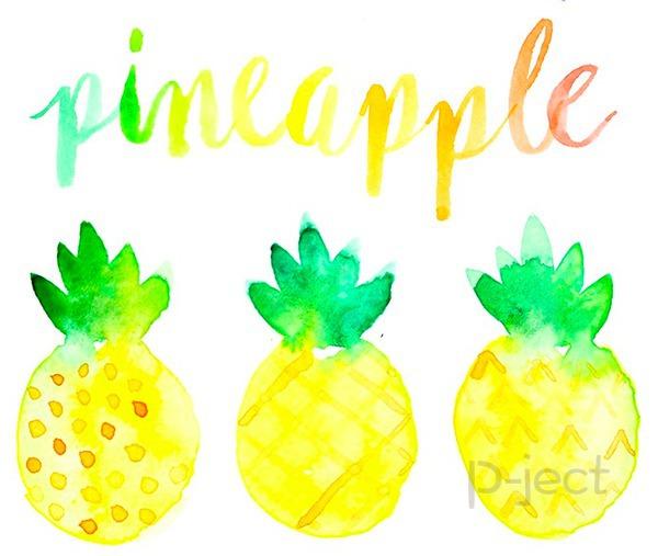 รูป 1 สอนระบายสี สับปะรด ด้วยสีน้ำ