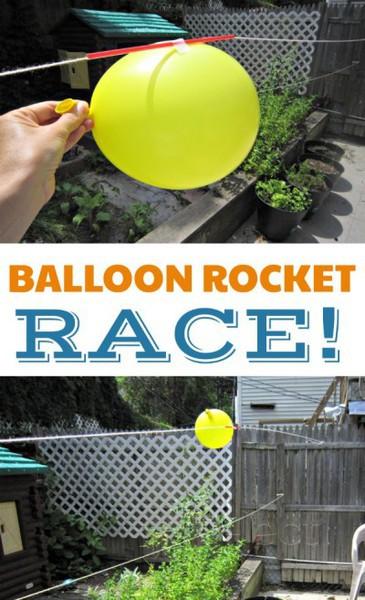 รูป 4 เกมส์วิทยาศาสตร์ สนุกๆ แข่งลูกโป่ง