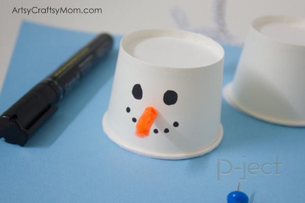 รูป 5 สอนทำ Snow man จากแก้วกระดาษ