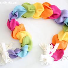 ผ้าพันคอทำเองแบบง่ายๆ จากผ้านิ่มๆ ไม่ใช้จักรเย็บผ้า