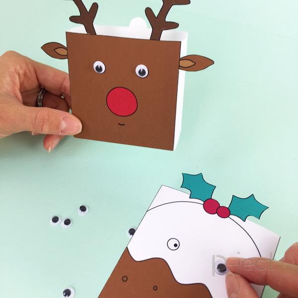 รูป 3 แพทเทิร์นกล่องใส่ของขวัญ ลายน่ารักๆ