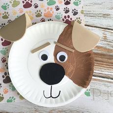 สื่อการสอนศิลปะ หมาน้อยน่ารัก จานกระดาษ