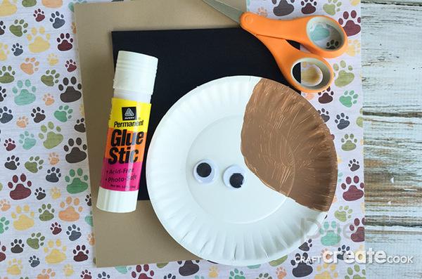 รูป 3 สื่อการสอนศิลปะ หมาน้อยน่ารัก จานกระดาษ