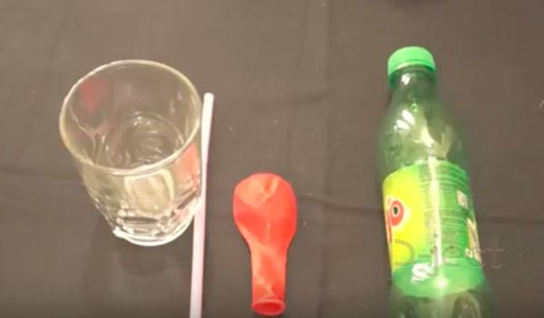 รูป 2 สังเกตแรงดัน จากลูกโป่ง และขวดน้ำ (ทดลองแบบง่ายๆ)