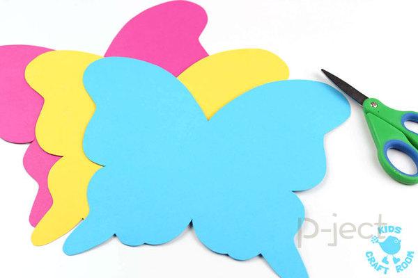 รูป 3 สื่อการสอนสำหรับเด็ก สนุกๆ หน้ากากผีเสื้อ