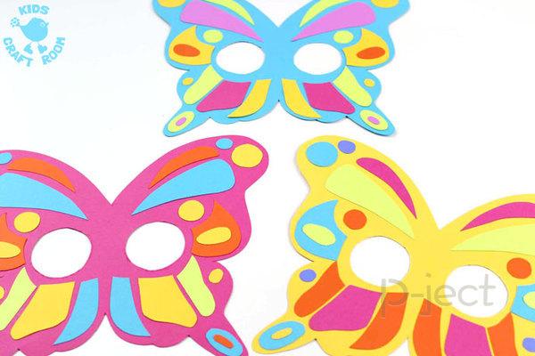รูป 4 สื่อการสอนสำหรับเด็ก สนุกๆ หน้ากากผีเสื้อ