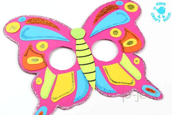 รูป 7 สื่อการสอนสำหรับเด็ก สนุกๆ หน้ากากผีเสื้อ