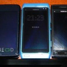 รูปเปรียบเทียบ โนเกีย N8 กับ N900 และ X6