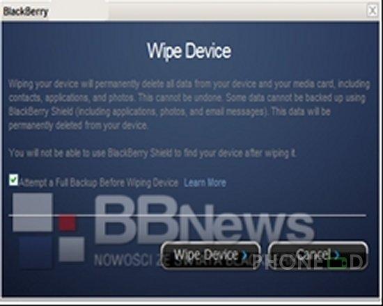 รูป 3 บริการ BlackBerry Shield ตามหามือถือหาย