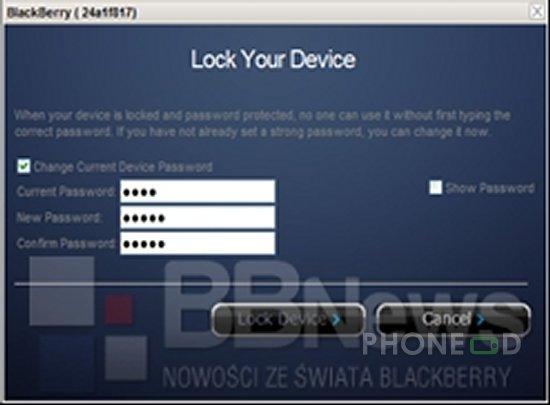 รูป 4 บริการ BlackBerry Shield ตามหามือถือหาย