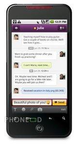 โปรแกรม Yahoo Mail และ Messenger สำหรับโทรศัพท์ระบบ Android