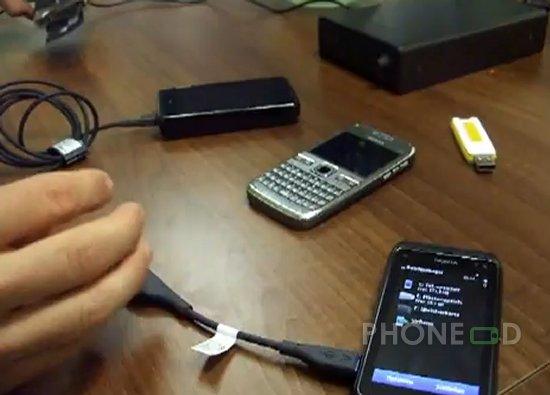 รูป 1 ต่อโนเกีย N8 เข้าเปิดไฟล์ในฮาร์ดดิสก์ External, USB ไดรฟ์ และ มือถือตัวอื่น