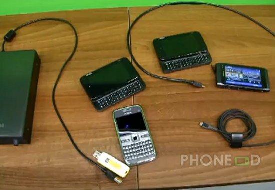 รูป 2 ต่อโนเกีย N8 เข้าเปิดไฟล์ในฮาร์ดดิสก์ External, USB ไดรฟ์ และ มือถือตัวอื่น