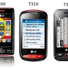 มือถือ LG Wink T300, T310 และ T320