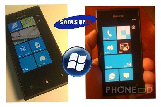 รูป 1 รูปโทรศัพท์ซัมซุงตัวใหม่ ระบบวินโดวส์โฟน 7